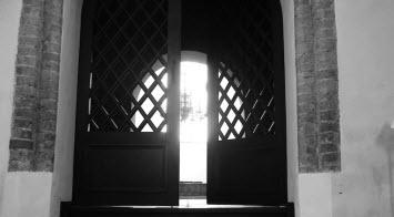 photo of open door