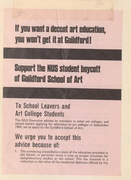 Guildford Student Protest 1968