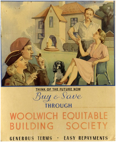 Woolwich advert, 1945