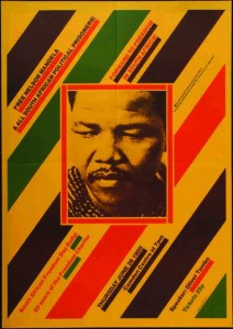 Image of Free Nelson Mandela rally poster