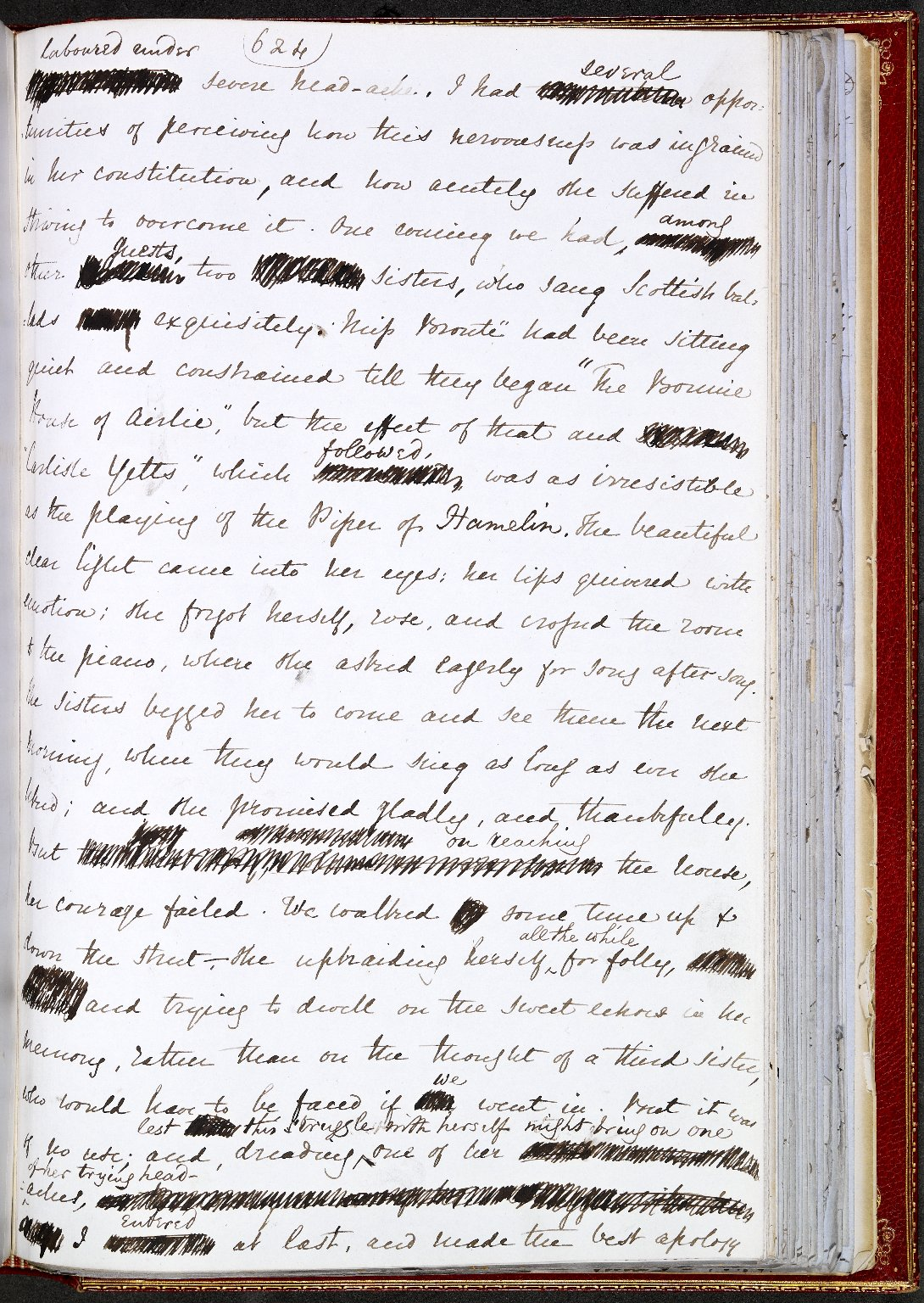 Image of a page from Gaskell's manuscript of The Life of Charlotte Brontë