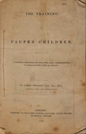 Image of pamphlet The Training of Pauper Children