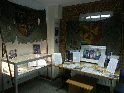 Photo of exhibition on Henry V