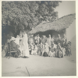 Image of 'Criminal' tribeswomen attend a Salvation Army Home League meeting at Sahibganj settlement, Uttar Pradesh, c1940s