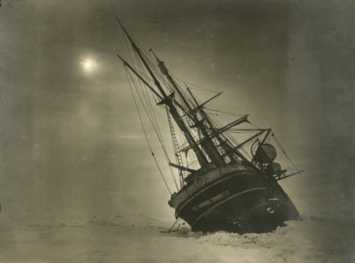 Photo of Endurance in ice by James Frances (Frank) Hurley (SPRI ref: P66_19_057)