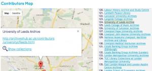 Screen shot of Hub map