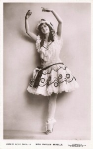 Photograph of 'Phyllis Bedells' c. 1911. Rotary Photographic Series, Royal Academy of Dance.