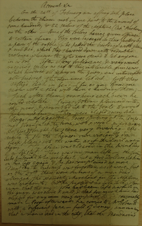 Account of the riot in Canton, 1807