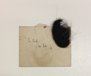 A lock of Sorabji's hair sent to Chisholm.