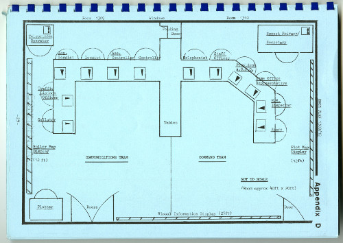 Image showing room layout, 1981