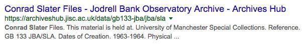 screenshot of google search result for a Hub description