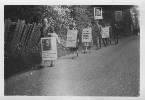 Photograph of the first Aldermaston March 1952