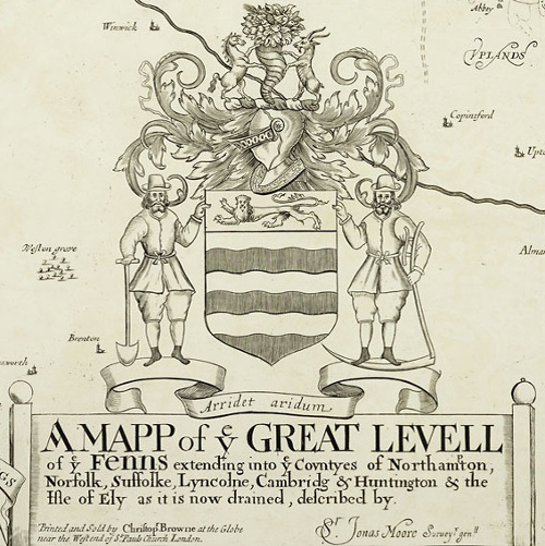 Cartouche from Moore's Mapp of the Great Levell of the Fenns re-printed in 1706