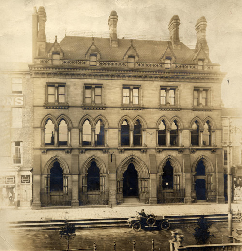 Darlington, High Row, early 1900s, designed by Waterhouse for Jonathan Backhouse & Co. and still a Barclays branch today