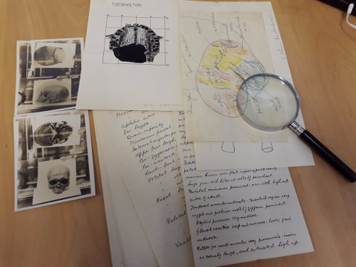 Selection of research material from Calvin Wells' collaboration with the pioneering archaeologist Gerald Dunning, 1964