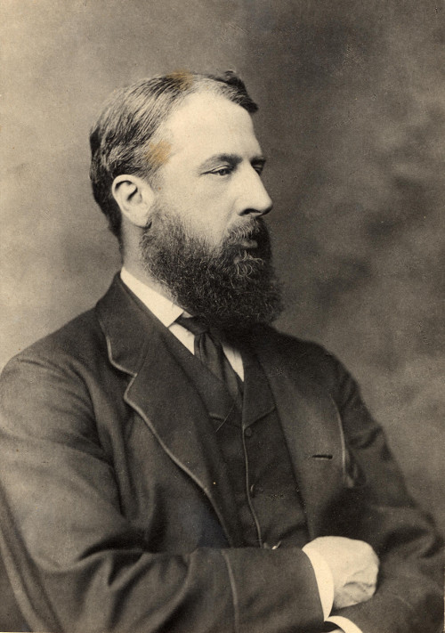 Photograph of Spencer Compton Cavendish when he was Marquess of Hartington, c.1880.