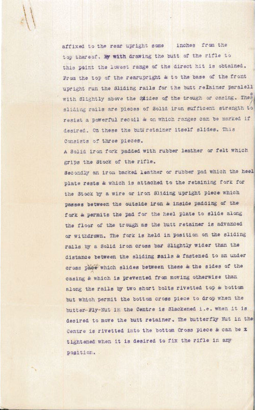 Page two of the specification by W.S. Kneeshaw.