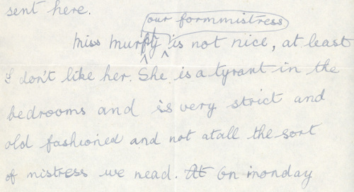 Extract of letter from Kitty Trevelyan to her parents, 1920(CPT/4/4/14/14)