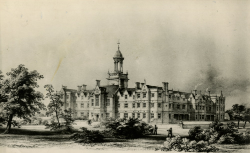 HD/1/452: The architect's impression of the hospital, dated 1845.