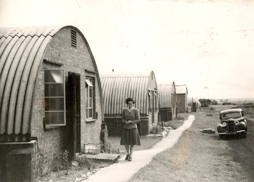 Nissen huts in the grounds of the Churchill Hospital, Oxford