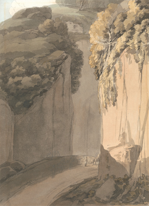 Francis Towne, Entrance to the Grotto at Posilippo, Naples (1781)