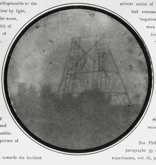 John Herschel's photograph of his father's 40-foot telescope.