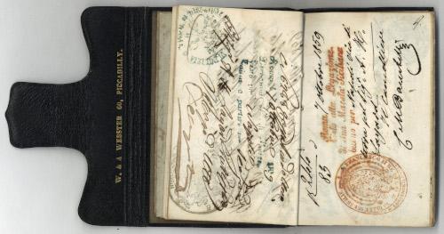 Austen Henry Layard's passport (2) (LAY/1/4/8).