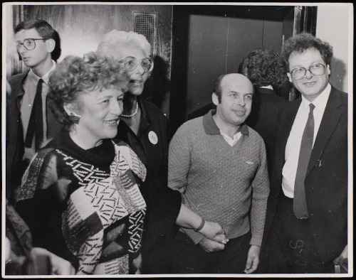 MS 254 A980/1/4/12 Natan Sharansky with Rita Eker, Martin Gilbert and Lynn Singer, 1980s.