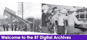 screenshot of BT digital archive website