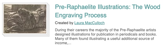 screenshot showing link to teaching resources on the Pre-Raphaelite website