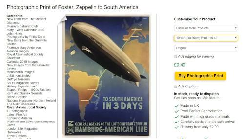 Zepplin poster order.