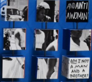 Image of exhibition photograph of black rights march
