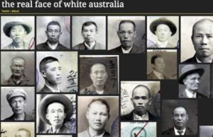 image of page from the face of white australia website