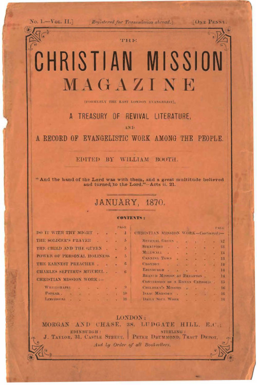 Christian Mission Magazine, January 1870.