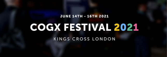 CogX poster with dates of the event