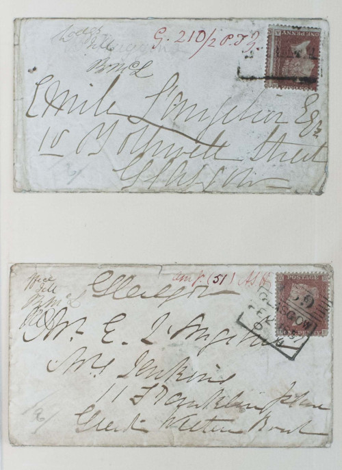 Letters of Madeleine Smith, accused of the Sandyford murder in Glasgow, from the Working Library of William Roughead WS letters.