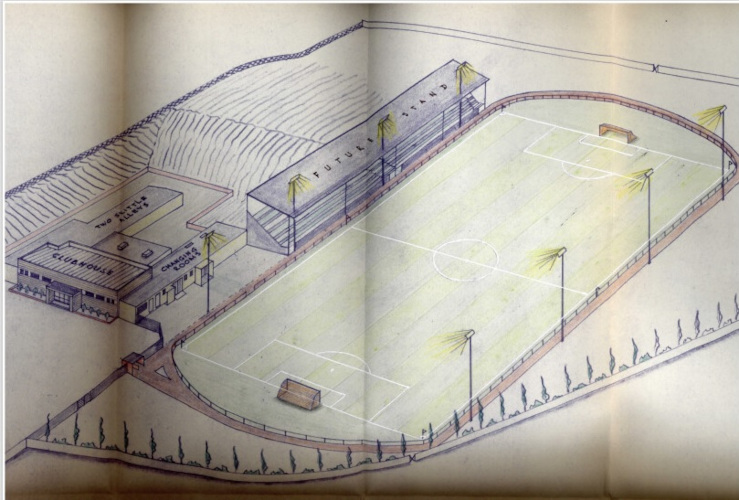 Drawing of Weston Super Mare Football Club new ground